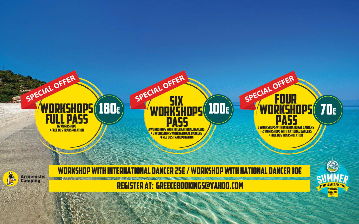 Armenistis WORKSHOP OFFERS